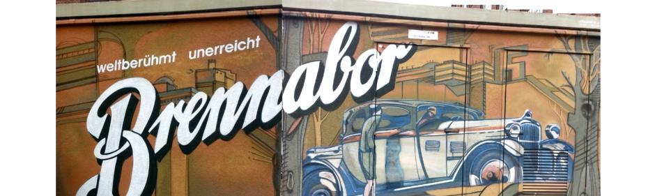 Grafitto an einem Transformatoren-Häuschen im ehemaligen Werk - heute Arbeitsamt